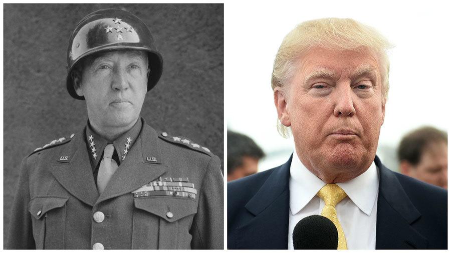 巴頓將軍(左)和特朗普(右)。(Getty Images/大紀元合成圖)