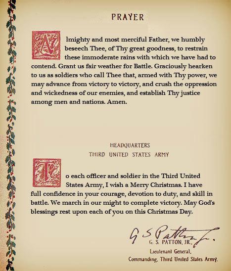 巴頓的禱告詞載入美國史冊。(公有領域)