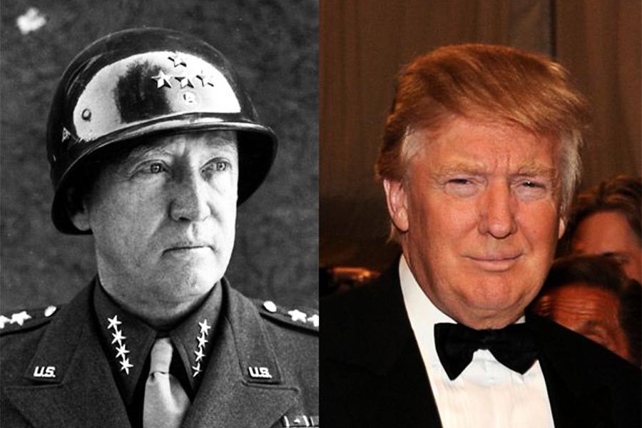 形似又神似 特朗普是巴頓將軍轉世?