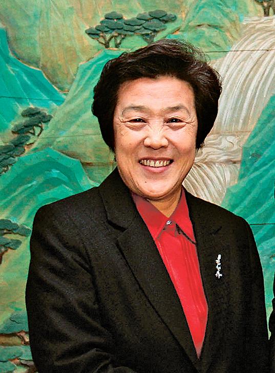 中共司法部長吳愛英被外界批為「法盲」。(AFP)