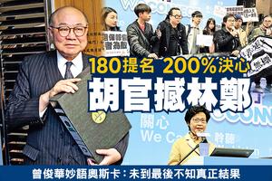 180提名  200%決心 胡官撼林鄭