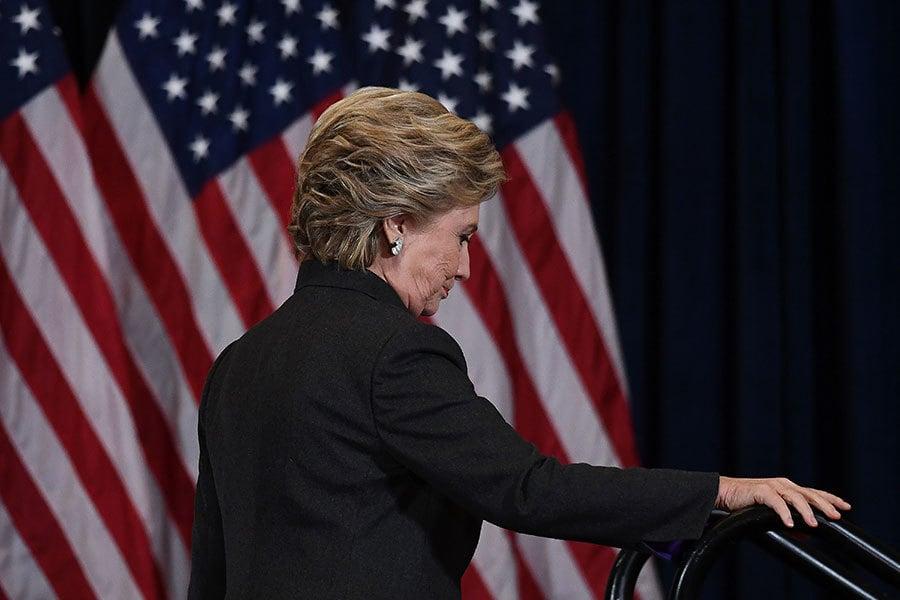 根據維基解密,希拉莉競選團隊有可能在競選期間和中共大使接觸。(JEWEL SAMAD/AFP/Getty Images)