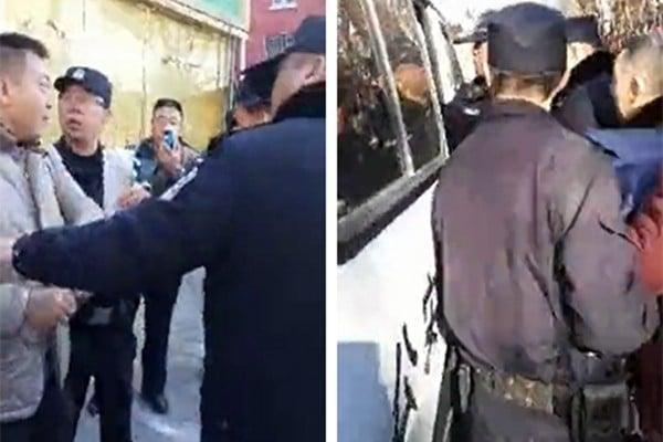 中共兩會前期,北京進入敏感嚴控期,一邊是大批訪民湧入京城,一邊是截訪人員進京抓人。圖為2月12日,北京警方在呂村抓捕大批訪民,除呂村外,其他「上訪村」也被清場。(網絡圖片)
