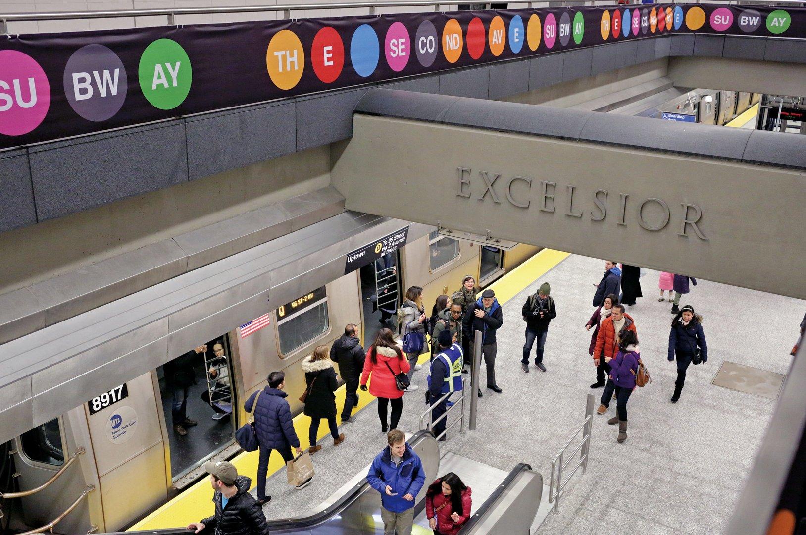 紐約市86街一個Q線地鐵站。(Getty Images)