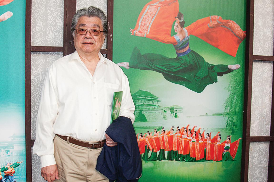 2017年2月15日下午,國際級鋼琴及大鍵琴演奏家宋允鵬到台北國父紀念館觀賞神韻。 (黃采文/大紀元)