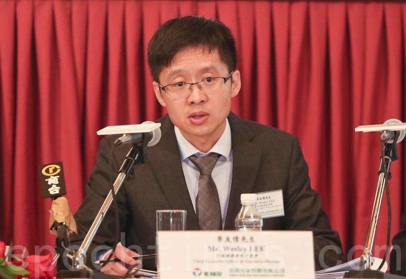 信義光能行政總裁李友情表示,今年很大機會進行分拆上市,但仍要視乎市場狀況。(余鋼/大紀元)