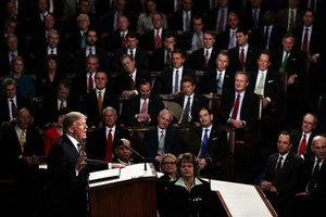特朗普首次國會演說 收視率超過今年奧斯卡