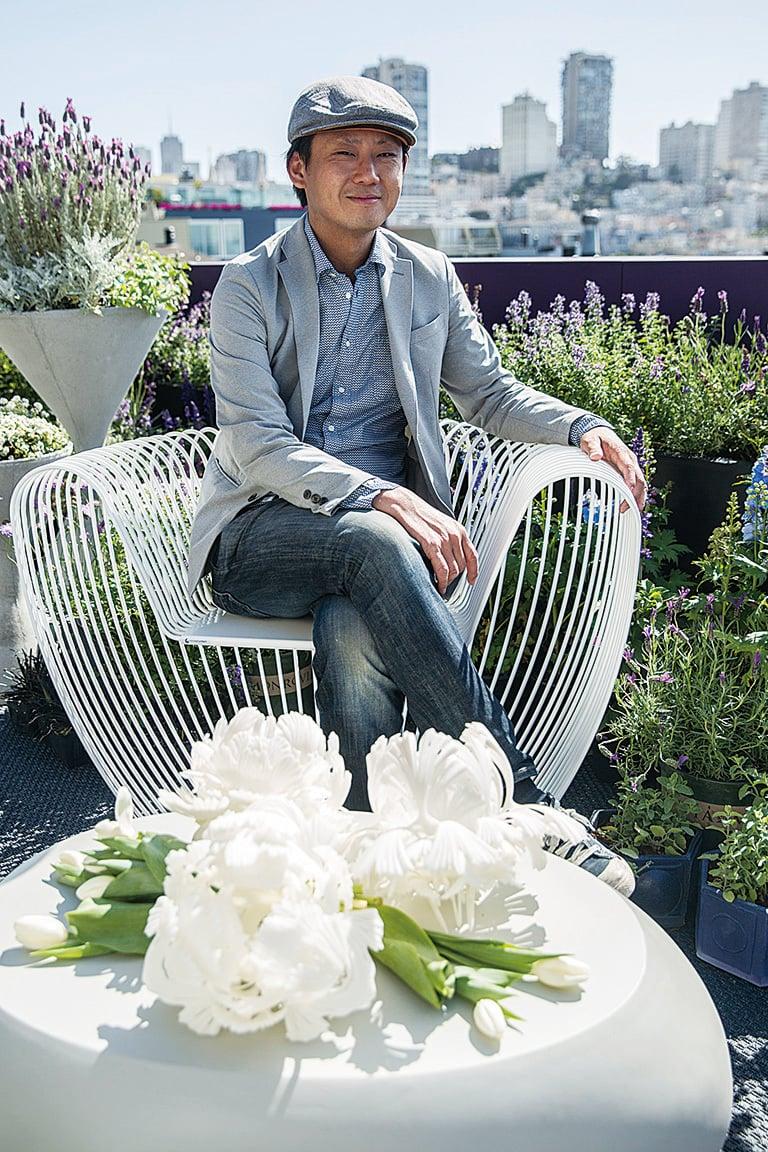 小陽台花園的設計者——張志維。(張志維提供)