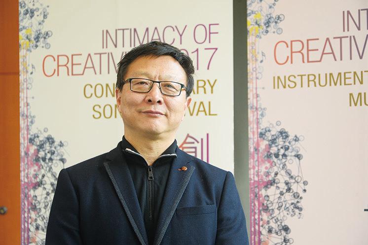 盛宗亮表示,英文歌劇《紅樓夢》將於3月18日和19日在香港文化中心大劇院作亞洲首演。(宋祥龍/大紀元)