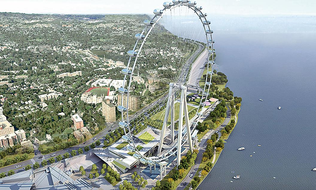 紐約很多大型的投資項目,都有EB-5的資金,圖為位於史坦頓島的紐約輪(New York Wheel)效果圖。(New York Wheel)
