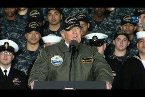 特朗普盼國威遠揚 美軍擬恢復十二艘航空母艦