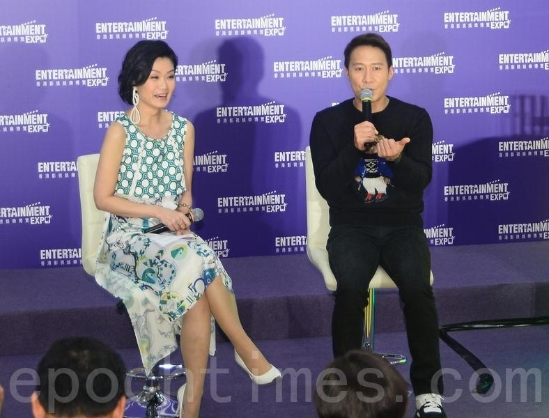 黎明(Leon)在2號出席香港影視博覽月開幕禮時再爆金句,自稱「勞動人民」,並籲香港影視業要多些創意和不停努力。(宋碧龍/大紀元)