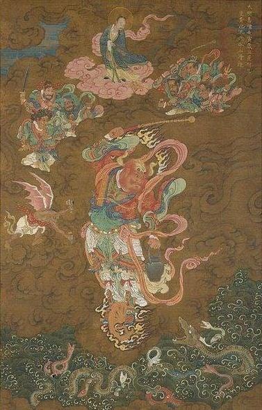 雷公傳說是掌管打雷的神。(維基百科公有領域)