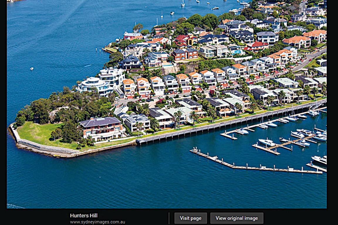 Hunters Hill區不僅是全新州房產再售獲利最高的地區,也是全澳獲利最高的地區。(網絡截圖)