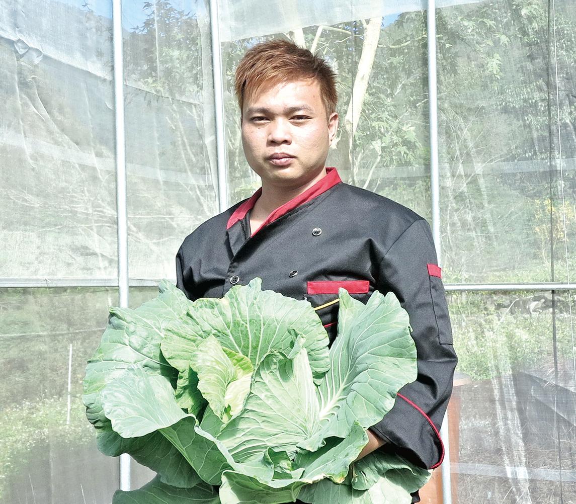 自幼熟悉台灣原住民料理的主廚王孝良。