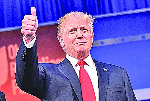 特朗普競選檔案照。(AFP)