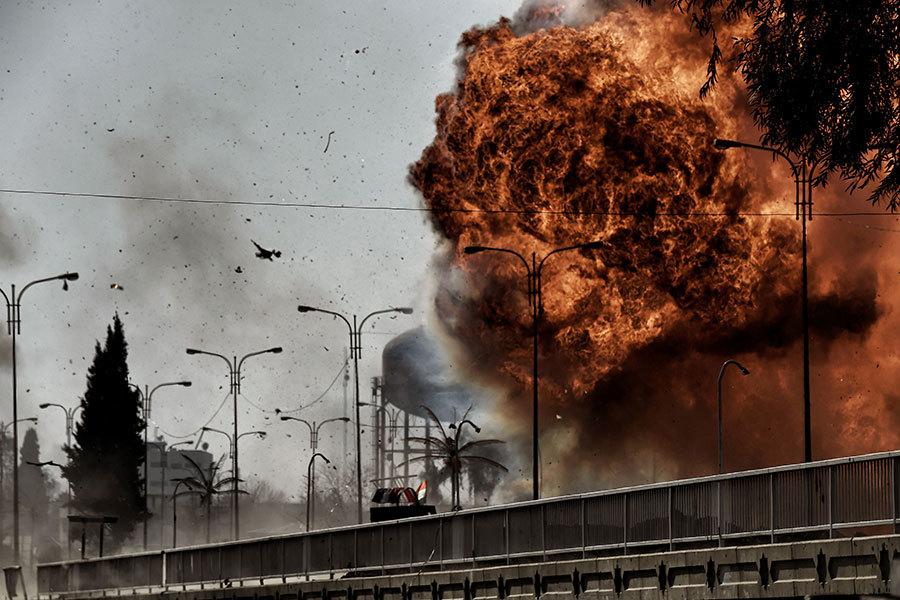 伊拉克部隊已經接近摩蘇爾市中心的主要政府大樓。與此同時,美國五角大樓也在制定奪回敍利亞重鎮拉卡的策略。(ARIS MESSINIS/AFP/Getty Images)