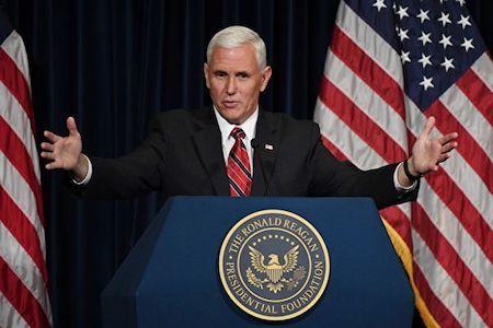 美國副總統彭斯。(MARK RALSTON/AFP/Getty Images)