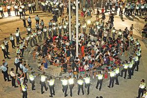 雙學領袖闖公民廣場案開審