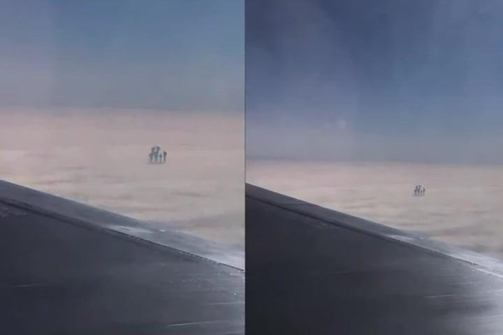 目擊者對所見的雲層人形十分驚訝。(Youtube視像擷圖)
