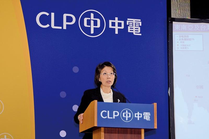 中電總監阮蘇少湄表示,中電的發電成本很大部份來自燃料,明年的燃料成本若維持平穩,明年電費很大機會維持不變。(宋祥龍/大紀元)