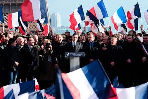 菲永人權廣場集會造勢 四萬法國民眾支持