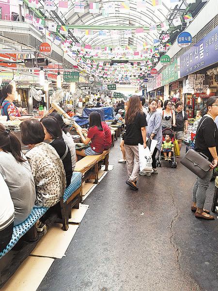 南韓廣藏市場體驗傳統飲食文化
