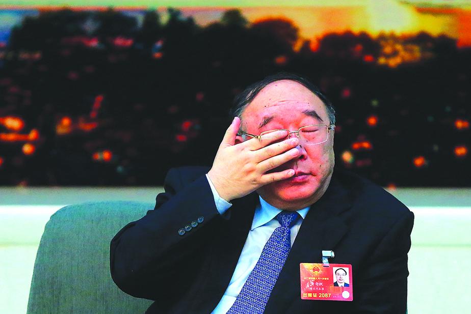 2013年3月,參加中共兩會的時任重慶市長黃奇帆。(Getty Images)