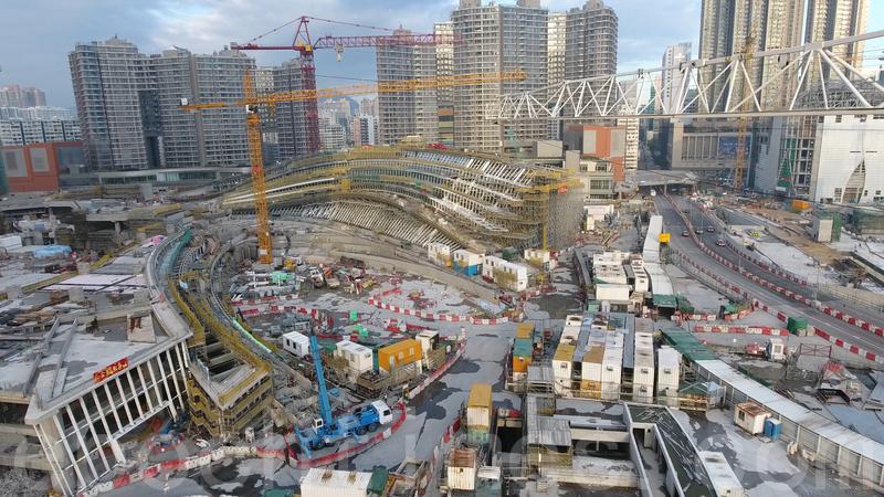 日前有報道指,正在興建的廣深港高鐵西九總站(圖)的設計包括一地兩檢設施,更有羈留室。(大紀元資料圖片)