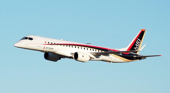 三菱公司開發的日本國產中型客機MRJ。(Getty Images)