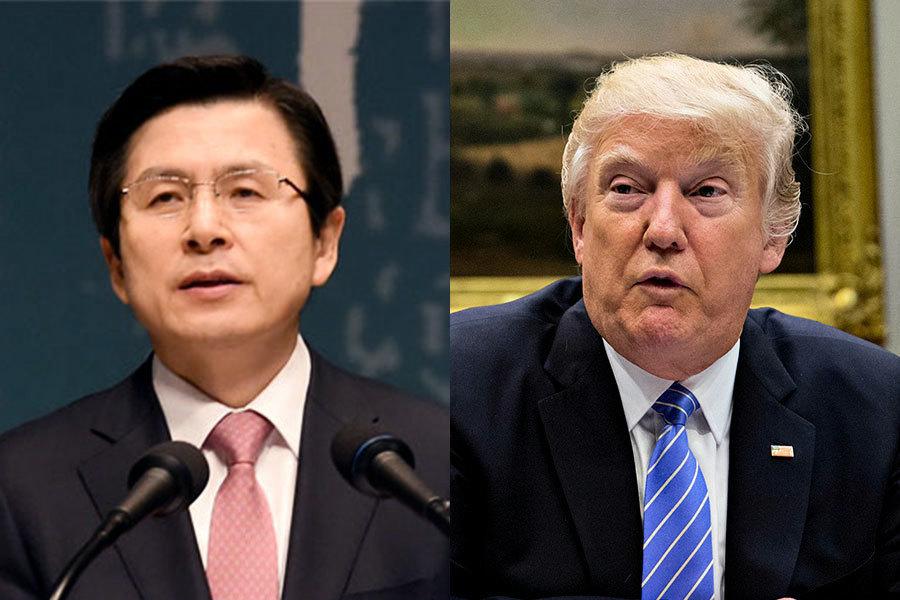 北韓導彈威脅 南韓代總統和特朗普通電話