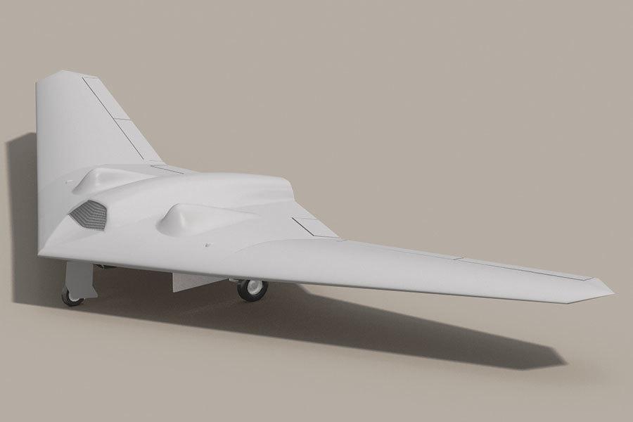 RQ-170「哨兵」隱形無人機的概念圖。(維基百科)