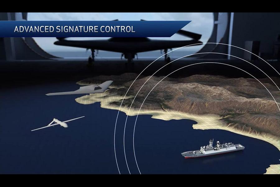 洛克希德・馬丁公司研製的RQ-170隱形無人機屬於海陸空綜合攻防系統。(洛克希德・馬丁公司視像擷圖)