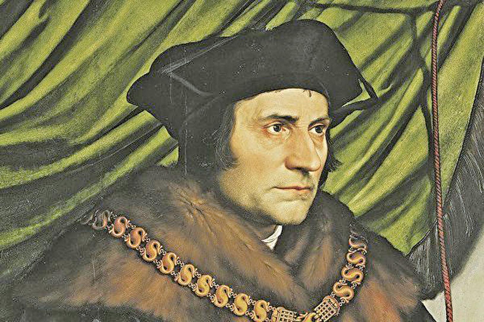 托馬斯•莫爾(Thomas More),英國政治家、作家、哲學家,1516年用拉丁文寫成《烏托邦》(維基百科公共領域)