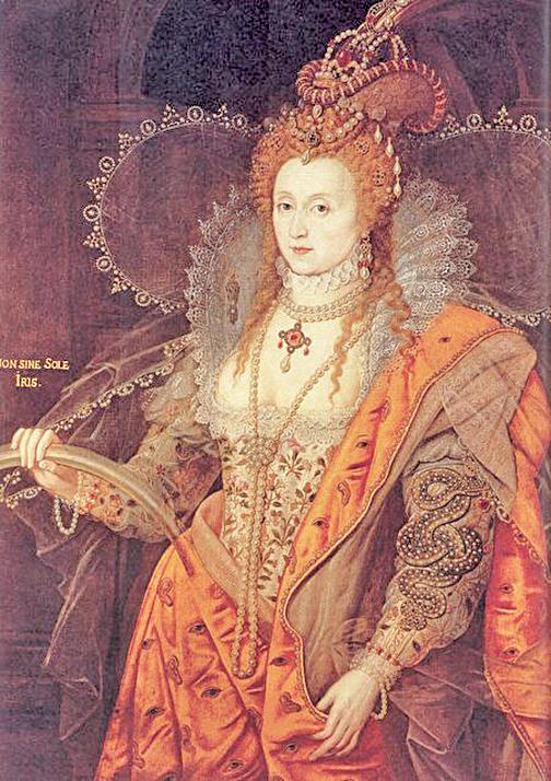 女王伊麗莎白一世。Isaac Oliver作品(維基百科)