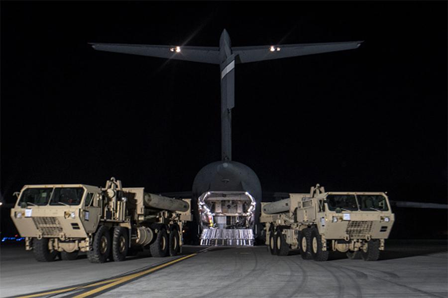 中國國家主席習近平在與南韓新任總統文在寅的第一次通話,即表達反對南韓部署美國薩德反導系統的立場。(United States Forces Korea via Getty Images)