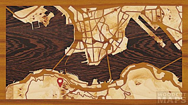 這裏是香港的維港。(Woodcut Maps)
