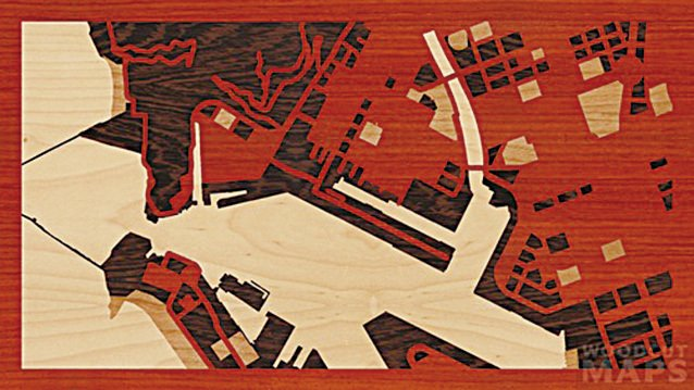 這裏是台灣的高雄。(Woodcut Maps)