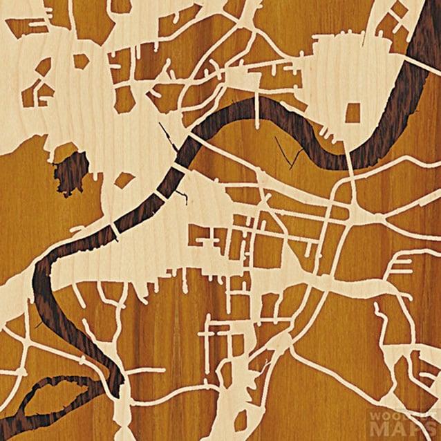 這裏是中國的杭州。(Woodcut Maps)
