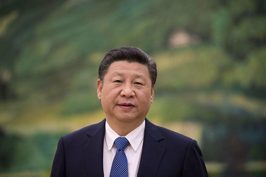 最近,大陸官媒持續為十九大全面造勢,對習近平多了三個新稱呼:最高統帥、最高領袖、總設計師。(NICOLAS ASFOURI/AFP/Getty Images)