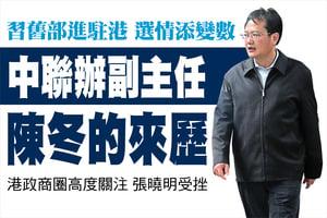 中聯辦副主任 陳冬的來歷