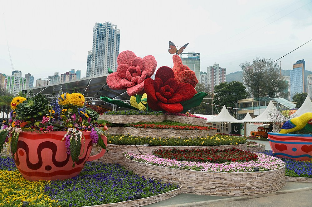 今年花展將展出17個國家35萬株花卉,包括約4萬株主題花:玫瑰。(宋碧龍/大紀元)