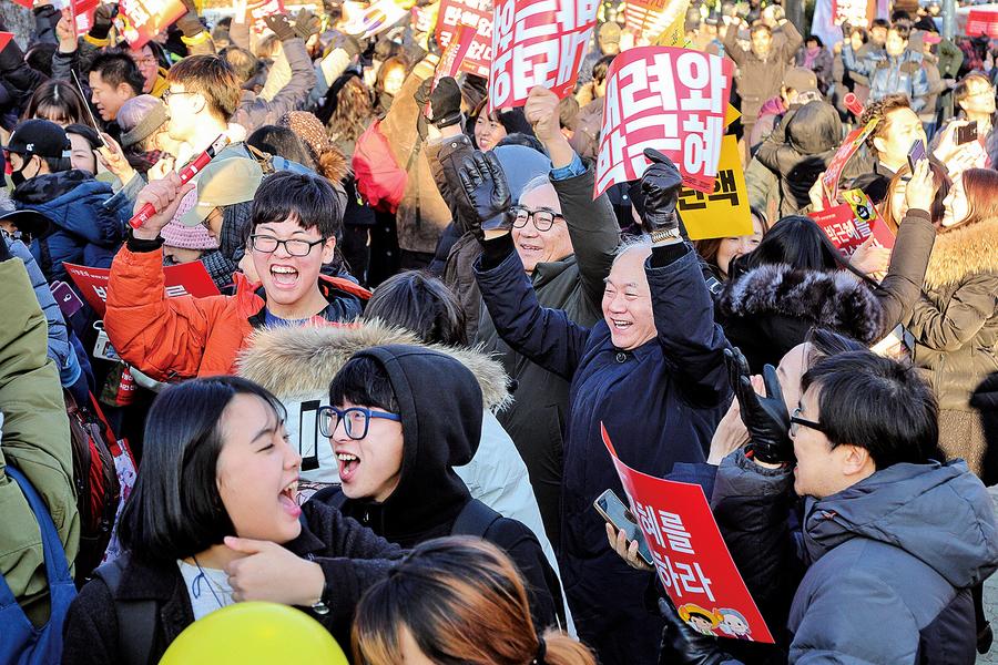 朴槿惠彈劾今宣判全國警戒
