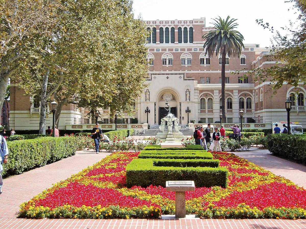 大學選擇(collegechoice)網站根據來美的海外留學生就讀大學的數據分析,列出最受海外國際學生歡迎的10所美國大學。圖為南加州大學。(維基百科公有領域)