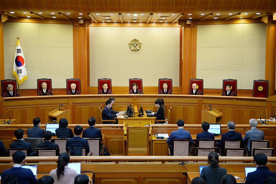南韓憲法法院今日(10日)宣佈罷免朴槿惠的總統職務。(KIM MIN-HEE/AFP/Getty Images)