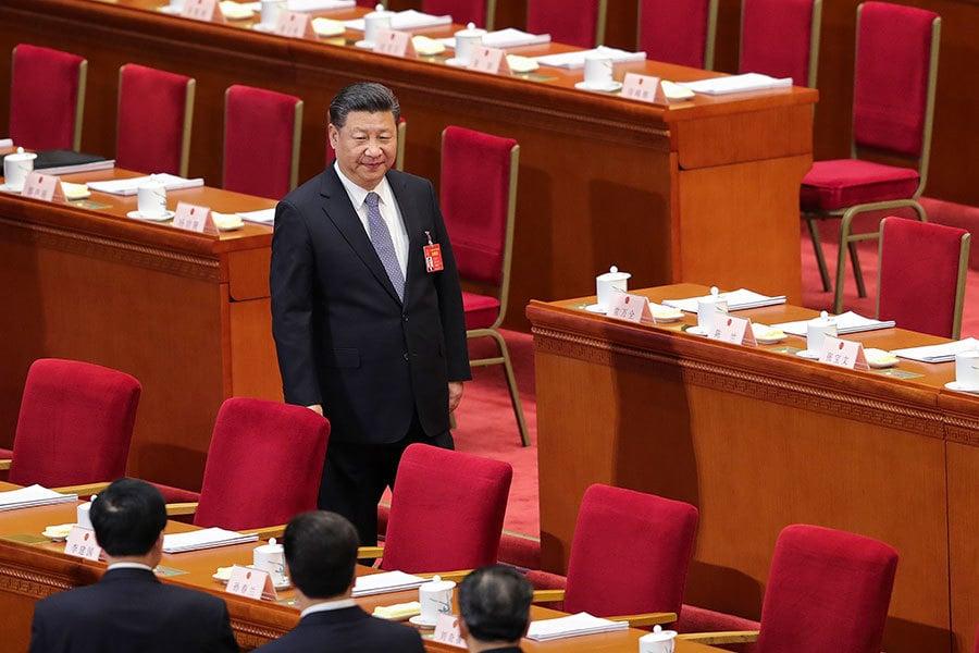 習在各代表團發言所釋放的反腐「打虎」信號,令人關注。(Lintao Zhang/Getty Images)