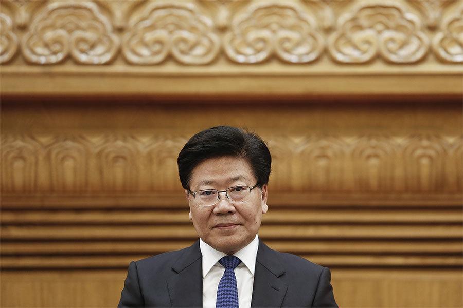 前新疆黨委書記張春賢。(Lintao Zhang/Getty Images)