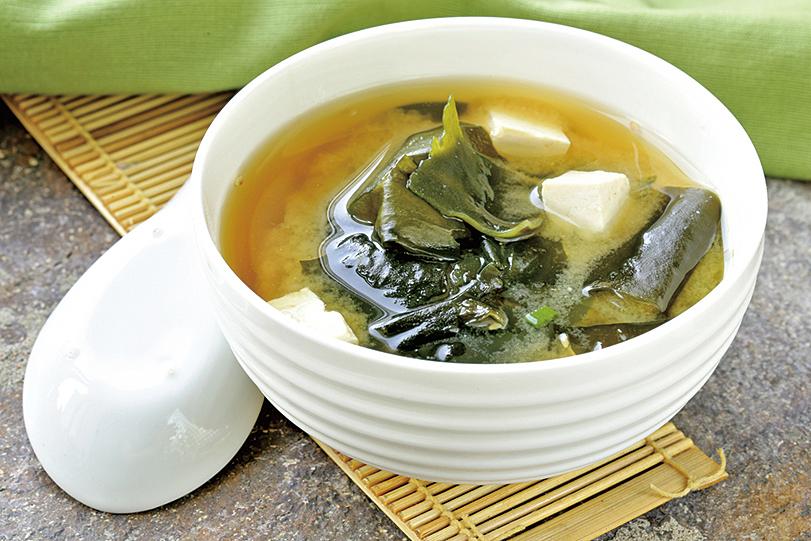 在日本常見的味噌湯。