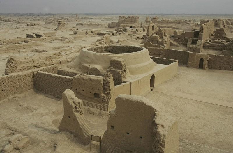 漢唐絲綢之路的高昌古城遺址。(Getty Images)