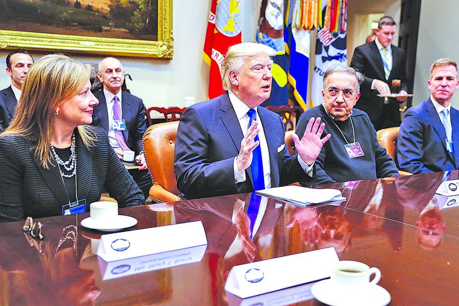 中美兩國相遇於「振興製造業」